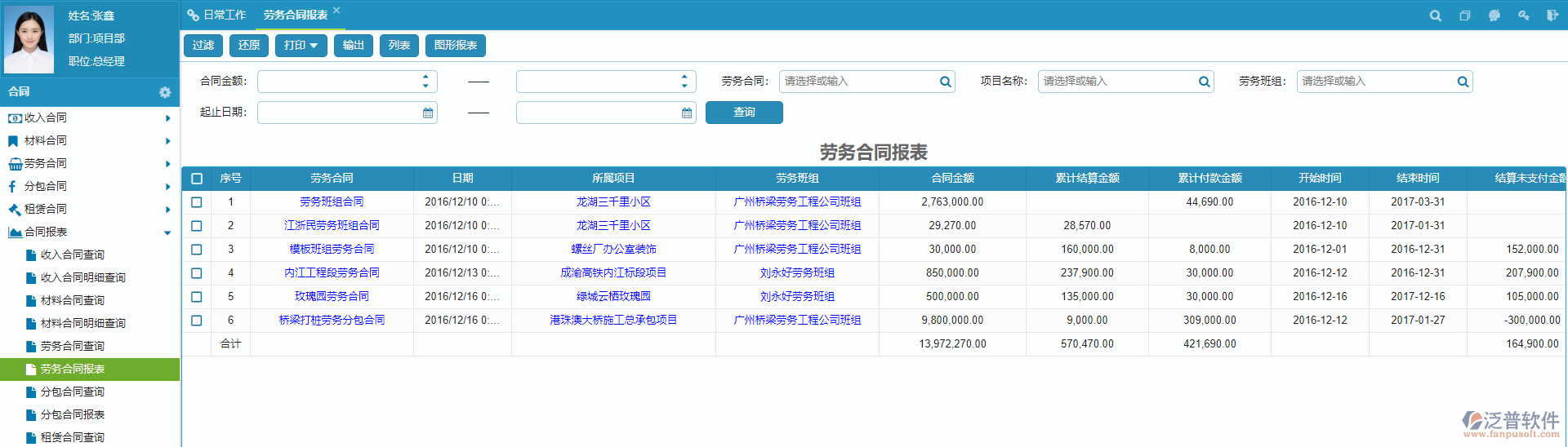 电力工程管理系统合同管理